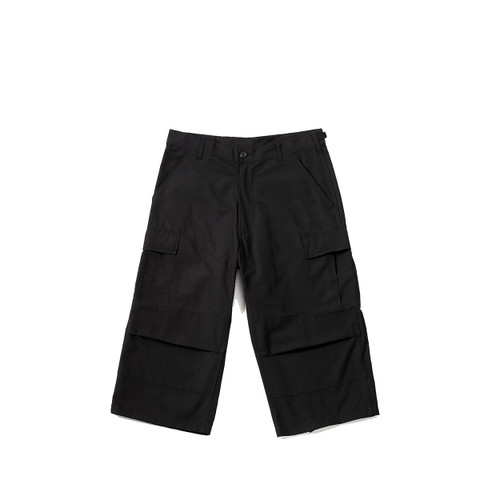 Rothco Black Fatigue Capri BDU Pants - View