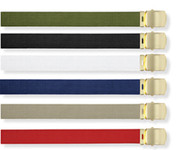 Military Web Belts w/Brass Buckle