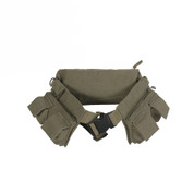 Olive Drab Canvas Travelers 7-Pocket Fanny Pack