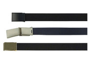 Military Web Belt w/Flip Up Buckle - Free Shipping
