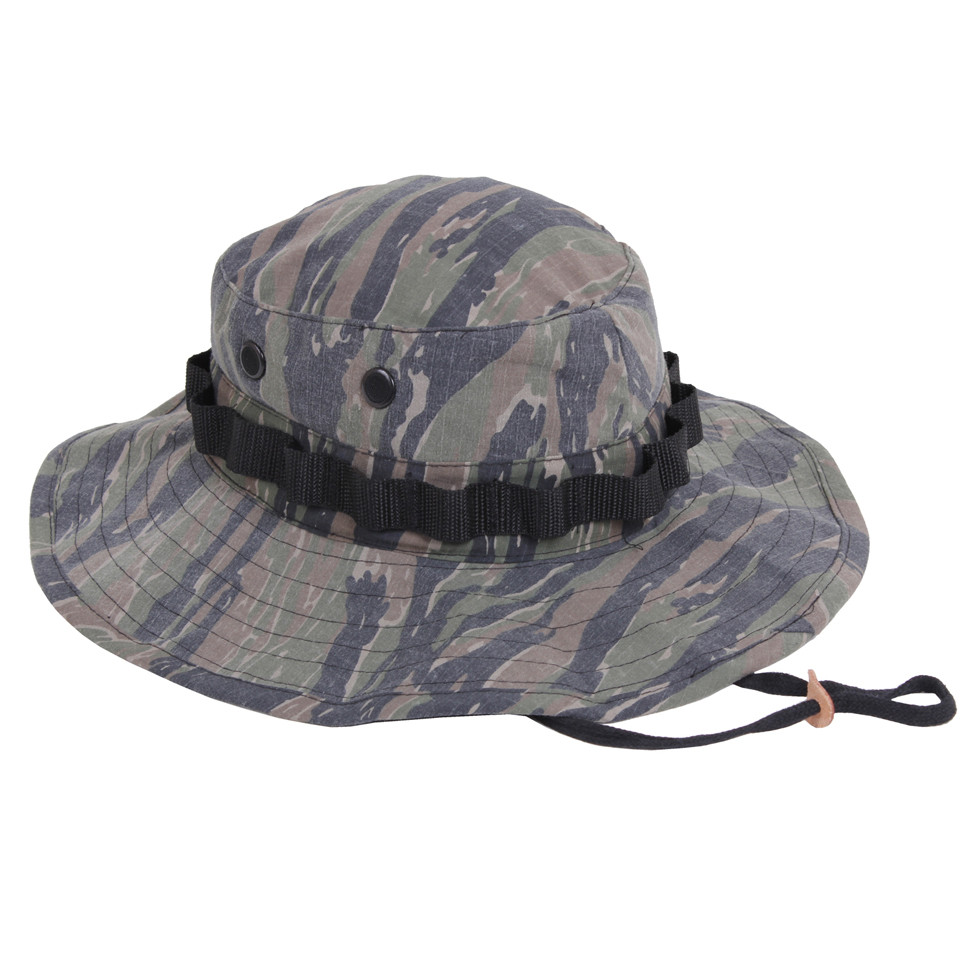 Shop Vintage Vietnam Tiger Stripe Boonie Hat - Fatigues Army Navy Surplus  Gear d1da493528b