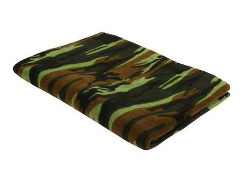 Woodland Camo Fleece Blankets - View