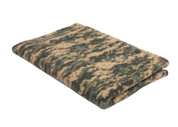 Army Digital Camo Fleece Blanket - View