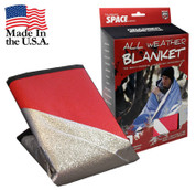 All Weather Red Survival Blankets - Full View