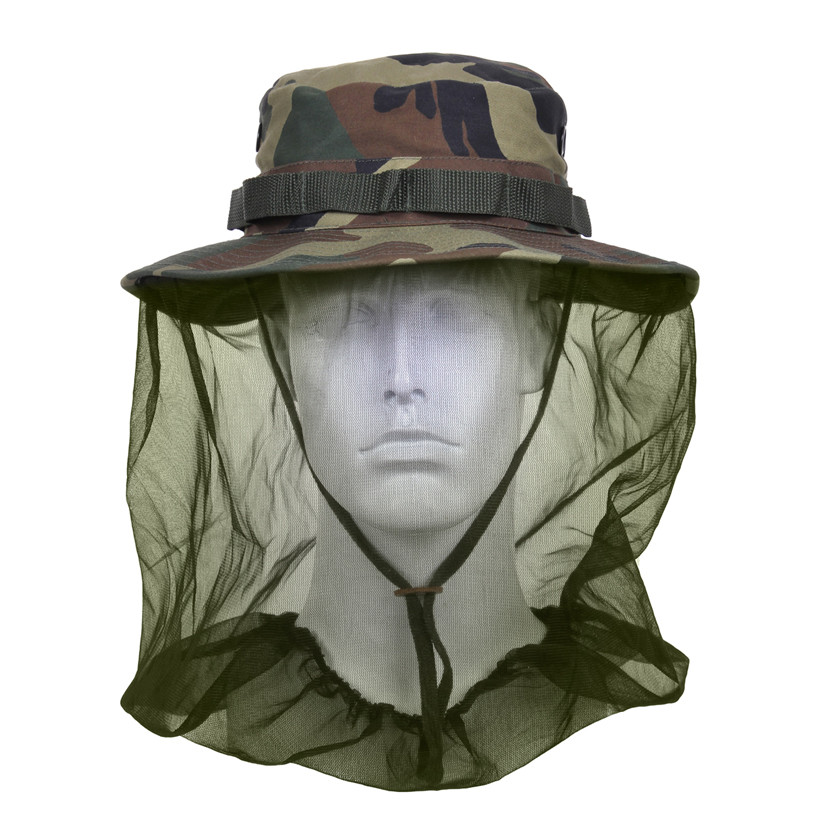 ff887fbd35857 Shop Camo Boonie Hat w Mosquito Netting - Fatigues Army Navy