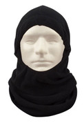 Black Polar Fleece Adjustable Balaclava Face Mask - View