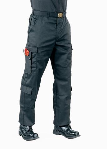 Black Uniform EMT Pants - Full View