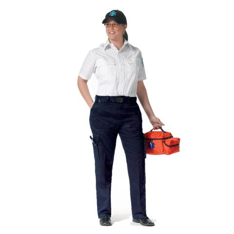 Womens Navy Blue Uniform EMT Pant - View