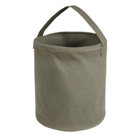 Large Olive Canvas Water Buckets - View