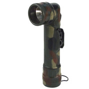 Military Camo Angle Head D Cell Flashlight - View