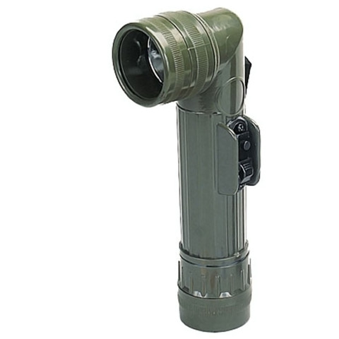 G.I Style Olive Angle Head Flashlight - View