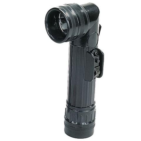 G.I Style Black Angle Head Flashlight - View