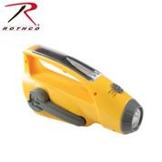Rothco Solar Flashlight with Radio - Side View