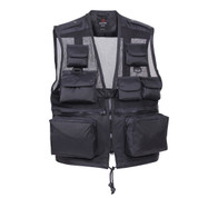 Black Tactical Recon Vest - View