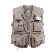 Khaki Safari Camp Vest - Front View