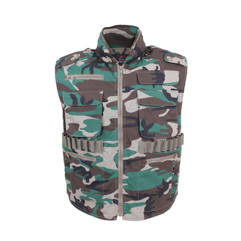 Camo Survival Ranger Vest - Front View