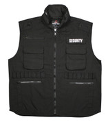 Ultra Force Black Security Ranger Vest - Front View