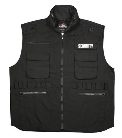 Ultra Force Black Security Ranger Vest - Front View