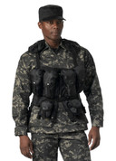 Black Tactical Assault Vest - Closeup View