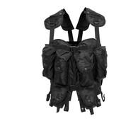 Black Tactical Assault Vest - Front View