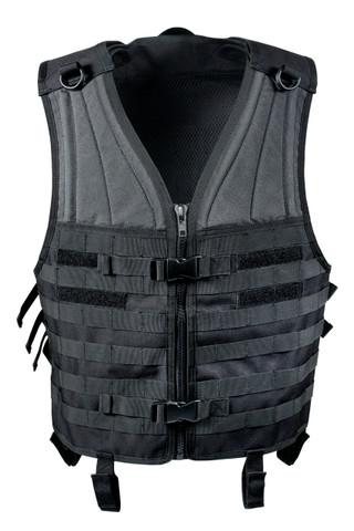 Black Molle Modular Vest - Front View