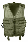 Olive Drab Molle Modular Vest - Front View