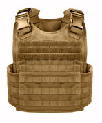 Coyote Brown MOLLE Plate Carrier Vest  - Front View