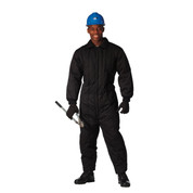 Black Cold Weather Insulated Coverall - View