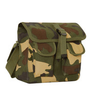 Woodland Camo Ammo Shoulder Bag - Front View