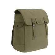 Jumbo Canvas Musette Bags - Front View