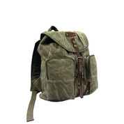 Stonewashed Outback Backpack W/Leather - View