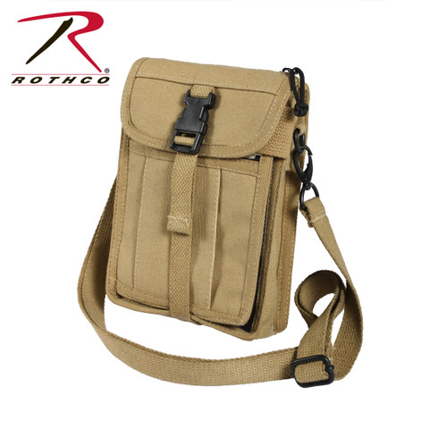 Khaki Travel Portfolio Passport Bag - Rothco View