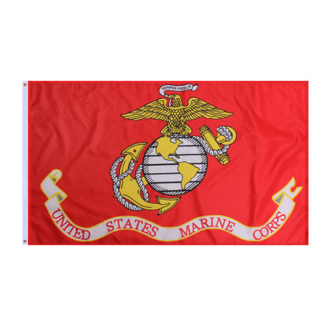 USMC Globe & Anchor Marines Flags