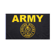 Army Flag - Black & Gold