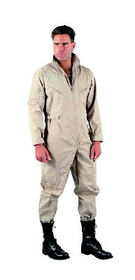 Khaki Military Air Force Style Flight Suits - View