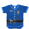 Infant Police Uniform Navy Bodysuit - View