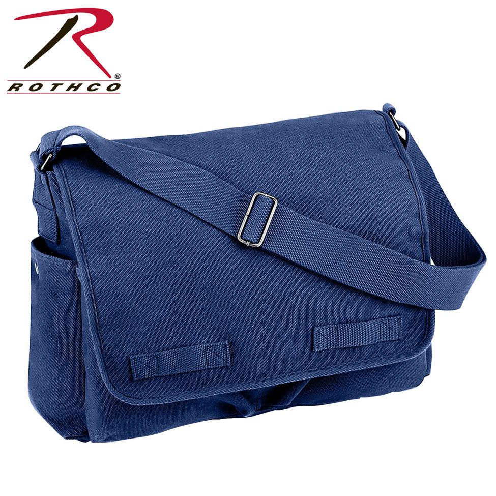4206ecbbe Shop Vintage Blue Canvas Messenger Bags - Fatigues Army Navy Gear