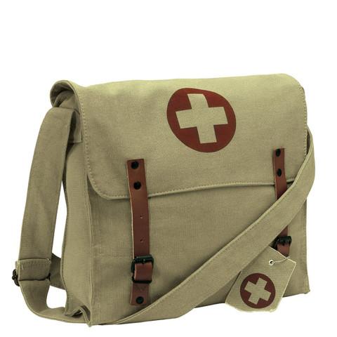Khaki Medics Bag - Front View