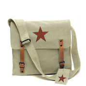 Vintage Khaki Canvas Star Republic Bag - View