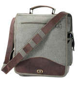 Vintage Canvas M-51 Engineers Bag-Leather - Front View