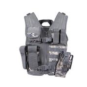 Kids ACU Camo Tactical Cross Draw Vest - Front View