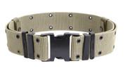 Khaki Marine Corps Style Quick Release Pistol Belt