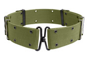 G.I. Style Olive Drab Pistol Belt W/Metal Buckle-Free Shipping