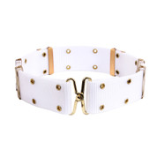 G.I. Style White Pistol Belt W/Metal Buckle