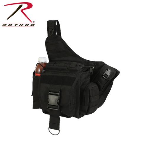 Advanced Tactical Black Sling Bag - Rothco View