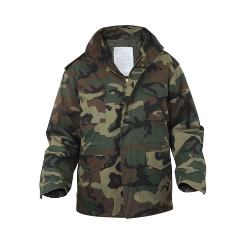 Rothco Woodland Camo M-65 Field Jackets - Front View