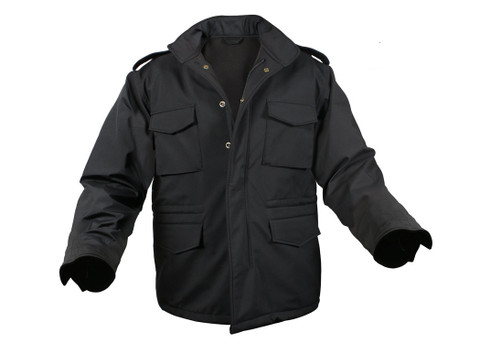 Rothco Soft Shell Tactical Black M-65 Field Jacket - View