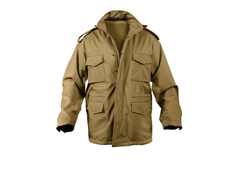 Rothco Coyote Brown Soft Shell Tactical M-65 Field Jacket - View