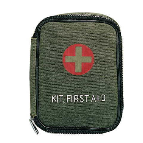 Military Zipper First Aid Kit - Front View