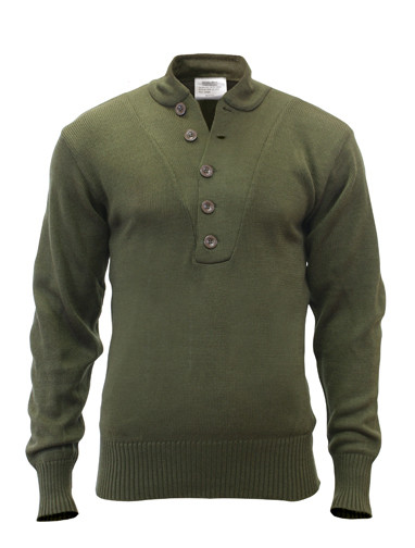 20e4e91393 Shop Army 5-Button Fatigue Sweaters - Fatigues Army Navy